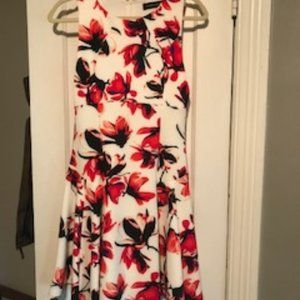 Red Floral Patterned Dress